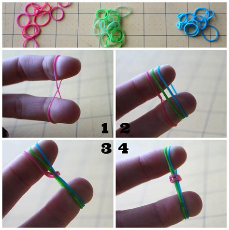 how to make loom bands with rubber band bracelets without the loom a and a