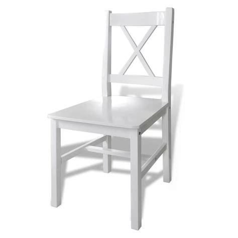witte stoelen eettafel vidaxl nl houten eettafel met 4 stoelen wit