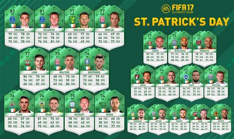 s day rating fifa 17 st patricks day sbc green cards updated fut