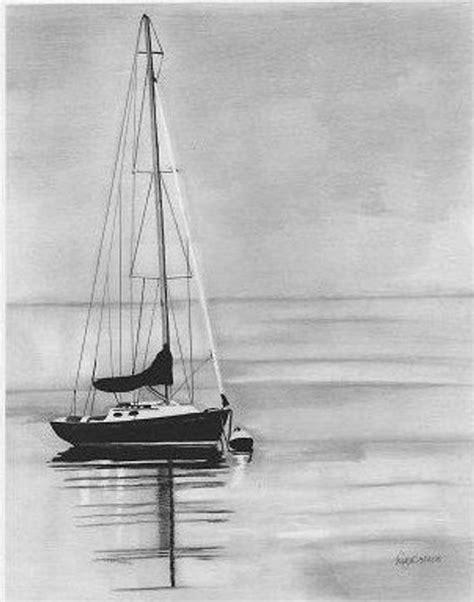 boat ocean drawing items similar to sailboats fine art pencil drawing ocean