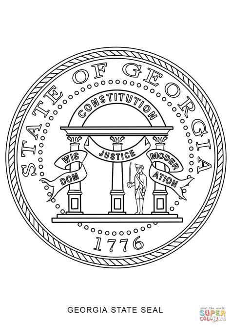 georgia state seal coloring page free printable coloring