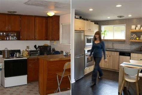Kitchen Floor Plans Before And After Before After A Retro Modern Kitchen Makeover