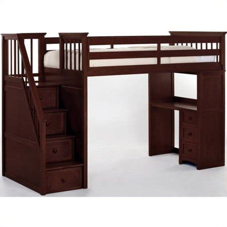 Bunk Beds With Stairs And Desk by Hillsdale School House Stair Loft With Desk End Cherry