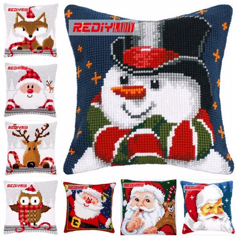 Counted Cross Stitch Pillow Kits by Ladiy Cross Stitch Patterns Santa Pillow Cover Dmc Counted