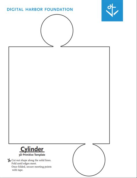 cylinder template maker rubric pdf blueprint by digital harbor foundation