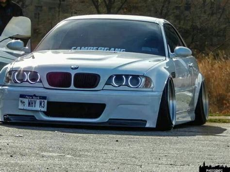bmw m3 slammed bmw e46 m3 white slammed deep dish bmw ultimate