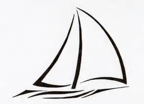 Sailboat Outline by Simple Sailboat Clipart Clipart Suggest