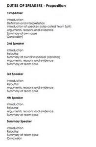 speaker debate template debate layout gallery