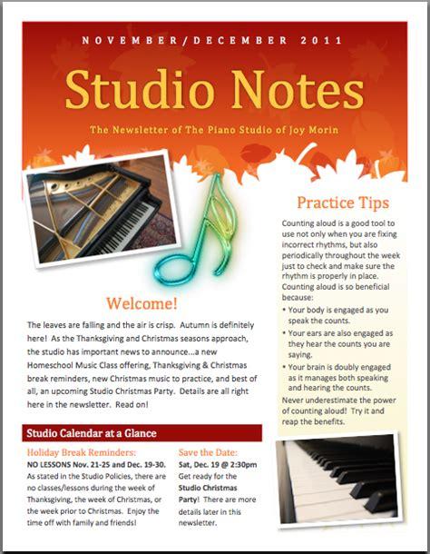 sample studio newsletter color in my piano