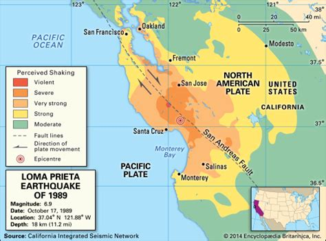 san francisco quake map san francisco oakland earthquake of 1989 united states