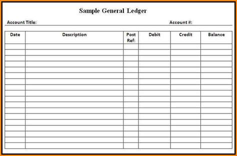 7 free excel simple general ledger template ledger entries