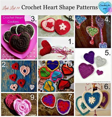 heart shaped pattern code crochet heart archives crochet for you