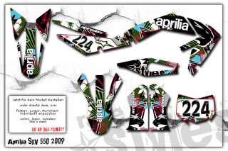 aprilia sxv dekor aprilia sxv rxv mxv 450 550 custom dekor decals graphic on