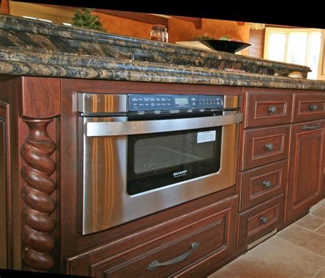 kitchen island with microwave drawer pin by kitchen bath cabinets design on kitchen islands