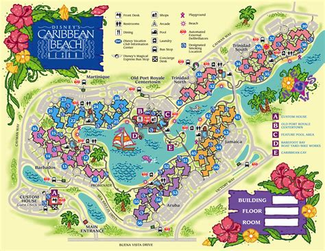 resort map disney s caribbean resort guide walt disney world