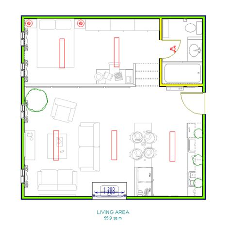 different plans lofty studio with a built in basement