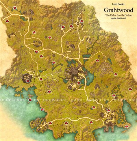 biography lore book locations grahtwood lore books map eso game maps com