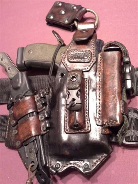 tactical knife holster weapons obssesed amazingly awesome leather holster