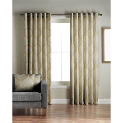 residence curtains jeff banks home cyrus green readymade eyelet curtains