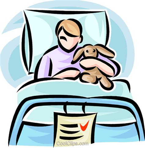 kid in hospital bed child in hospital bed clipart clipartxtras