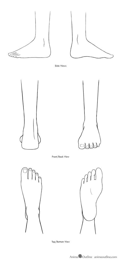 Foot Line Drawing