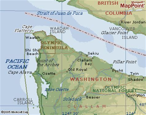 cape flattery map zoomed | where is cape flattery? the