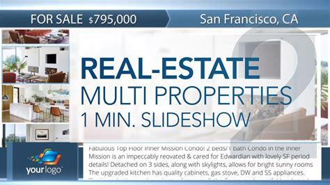 Real Estate Multi Properties 1min Slideshow 2 Final Cut Pro X Template Cut Pro X Slideshow Template