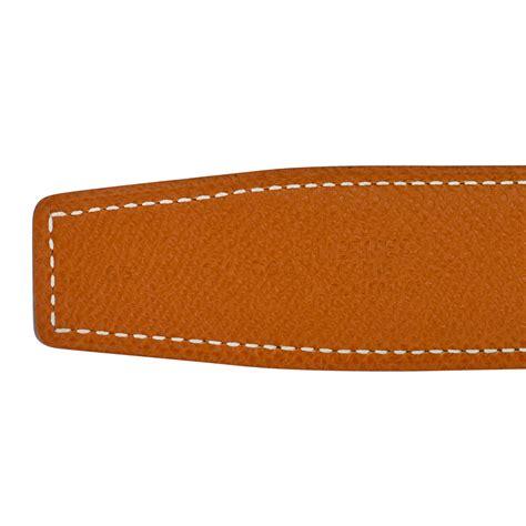Belt Hermes Reversible 242 Orange Silver Dustbag Premium Quality hermes 32mm reversible gold black constance h belt brushed silver buckle 85 cm world s best