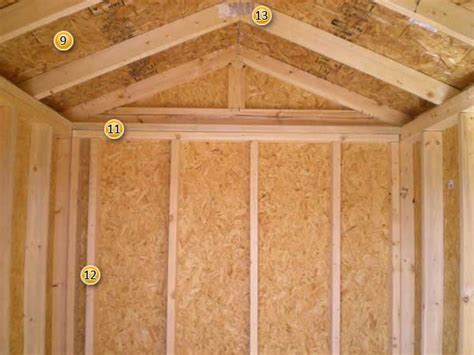 Interior Shed Walls by Shed Specifications