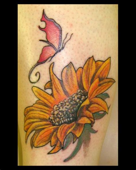butterfly and sunflower tattoo designs 1000 images about sunflower on