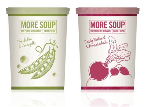 packaging design  soup pure creative marketing