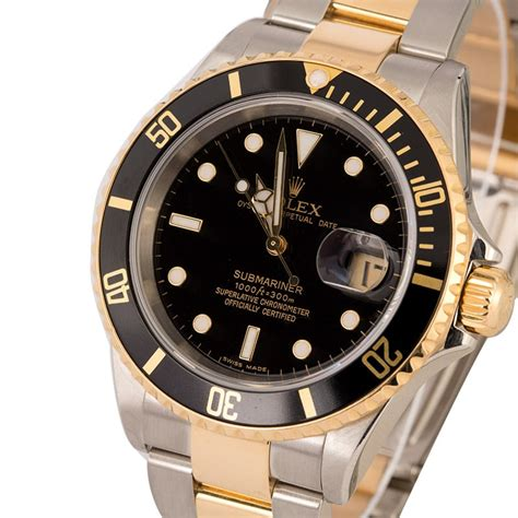 Rolex Oyster Submariner 2 rolex submariner 16613t two tone oyster