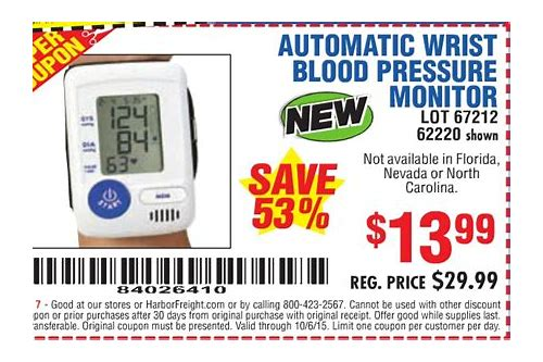 coupon for blood pressure monitor
