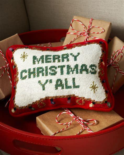 merry christmas yall pillow