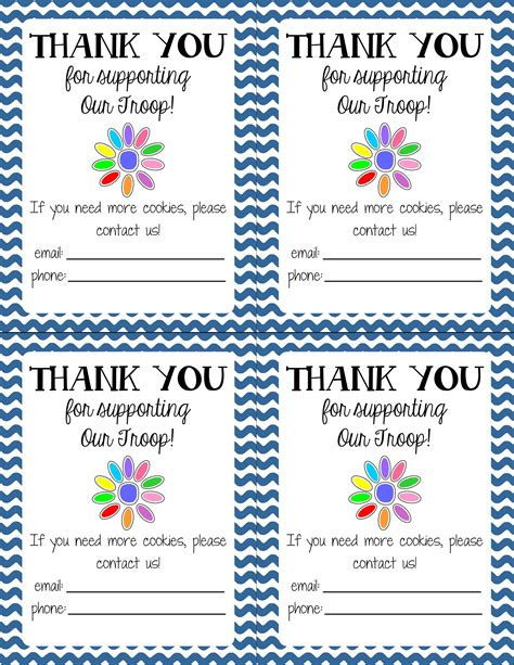 scout thank you cards template get s crafting cooking home