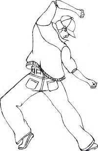 Hip Hop Dance Coloring Sheets Pages Pics For Gt  sketch template