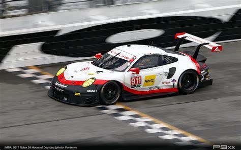 porsche 911 racing imsa race debut of new 911 rsr at rolex 24 p9xx