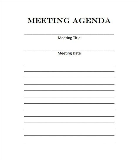 meeting outline template    premium