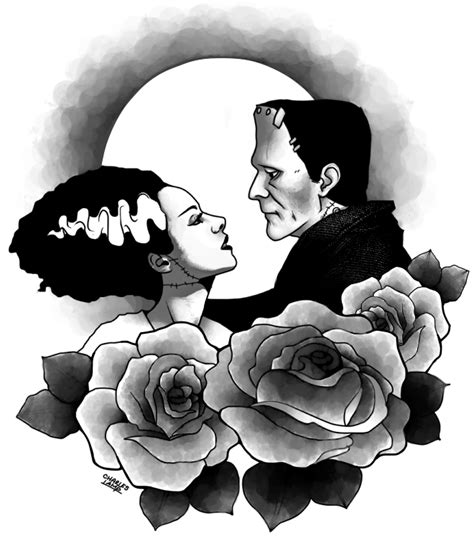 bride of frankenstein tattoo designs frankenstein designs tattoos