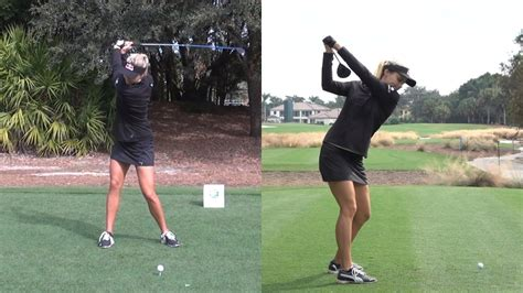 lexi thompson swing lexi thompson dual angle slow motion driver golf swing