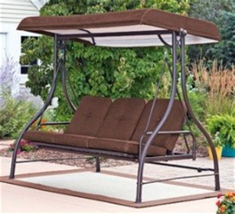 covered patio swing glider covered 3 person swing hammock outdoor glider new ebay