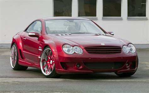 cars mercedes red red mercedes benz sl500 parked wallpaper car wallpapers