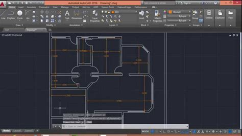 Sample House Floor Plans by Autocad 2016 Floor Plan Drawing Youtube