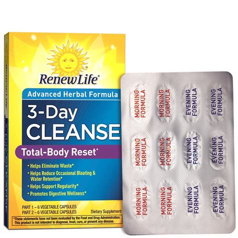 5 Day Detox Cleanse Pills by Nature S Secret 5 Day Fast And Cleanse Kit