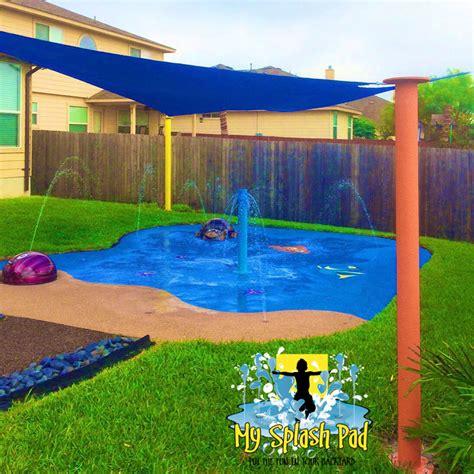 disney finding nemo themed backyard residential splash pad