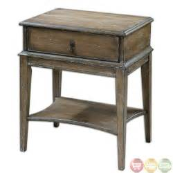 Rustic Side Table Hanford Country Rustic Weathered Pine Accent Table 24312