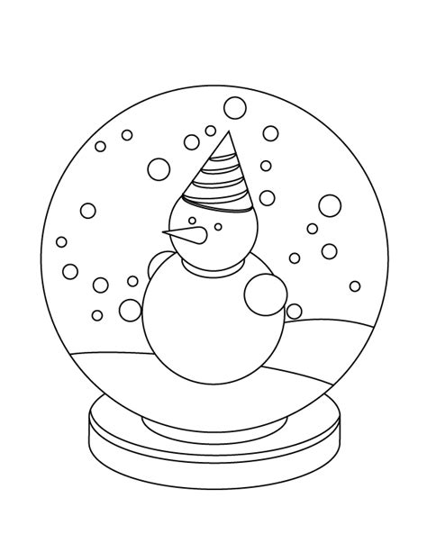snow globe coloring page free snow globe coloring pages