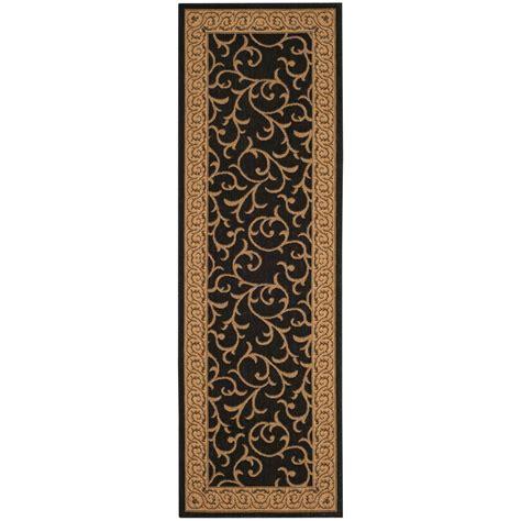 safavieh cy6014 46 courtyard indoor outdoor area rug black lowe s canada safavieh courtyard black 2 ft 7 in x 8 ft 2 in indoor outdoor runner cy6014 46 38