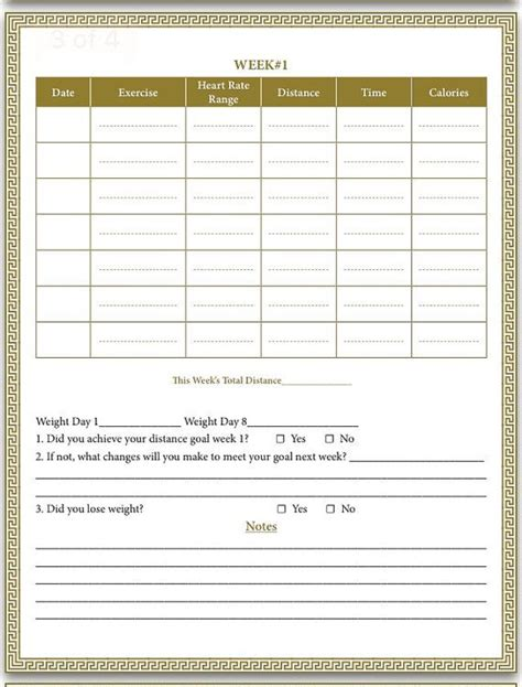 printable medifast food journal break that weight loss plateau cardio challenge by