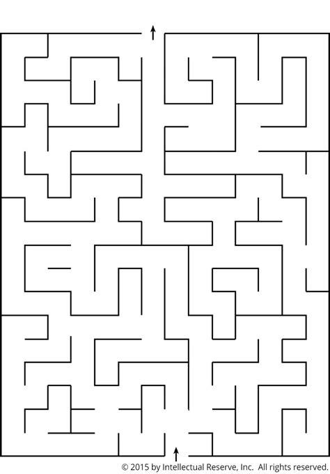 printable lds mazes a maze